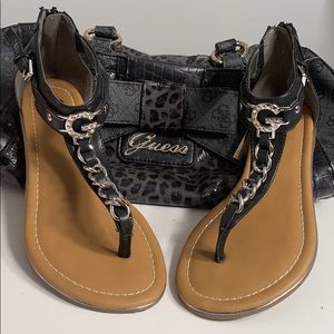 Guess Ankle Cuff Sandals.